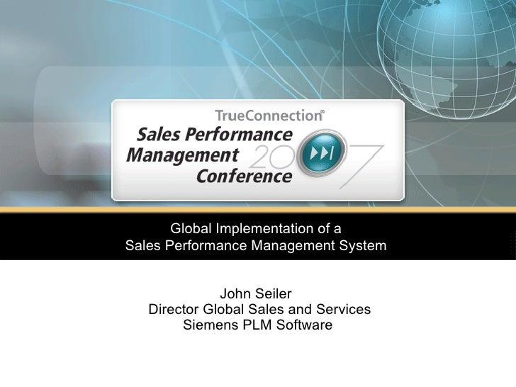 Global Implementation Of Sales Performance Management System