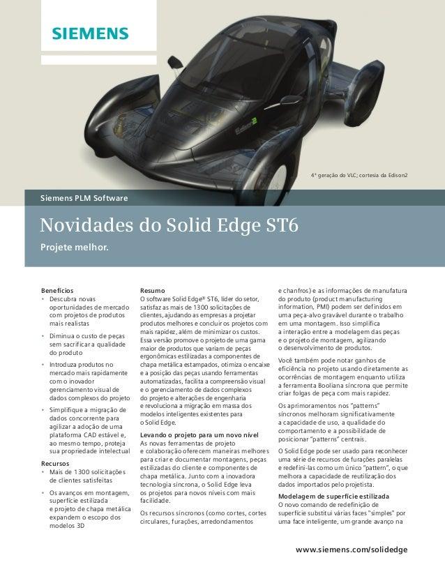 O que há de novo no Solid Edge ST6