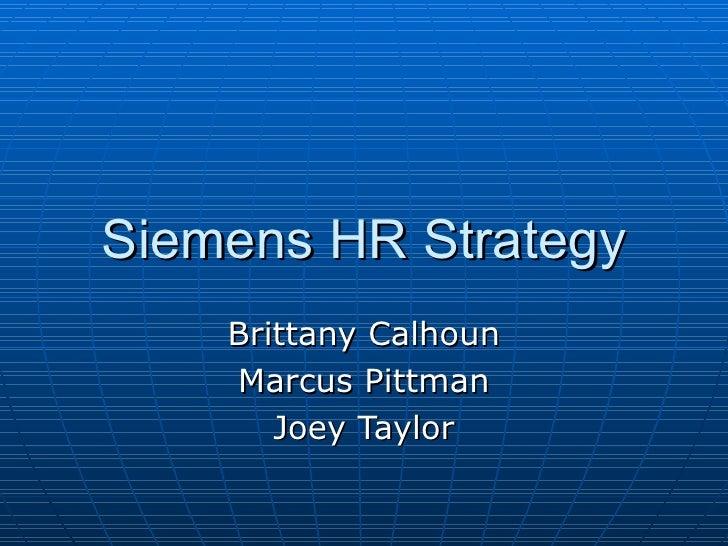 Siemens Hr Strategy