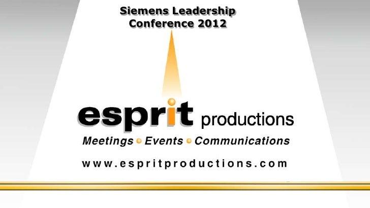 Siemens Leadership Conference 2012