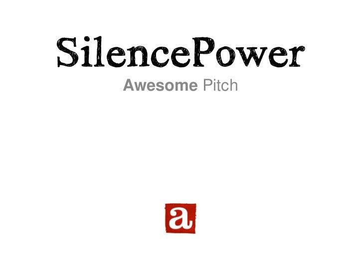 Awesome Amsterdam Pitch presentatie voor POS Siemens