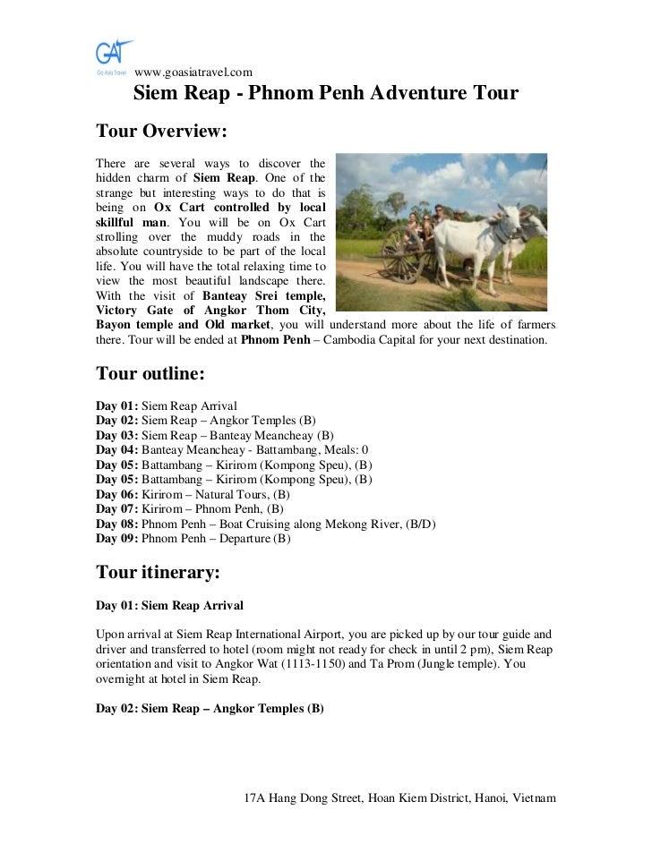 Siem reap   phnom penh adventure tour, Siem Reap adventure tours, trekking tour in Siem Reap, Ox - Cart Riding Tour in Siem Reap, Cambodia Tour Operator, Go Asia Travel