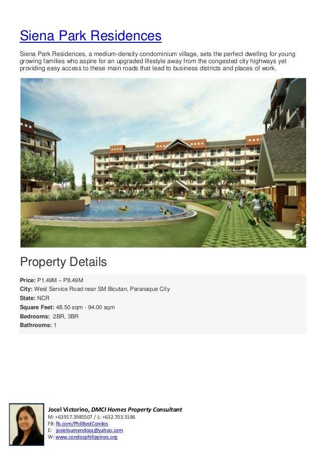Jocel Victorino, DMCI Homes Property ConsultantM: +63917.3985507 / L: +632.703.3186FB: fb.com/PhilBestCondosE: josieloumen...