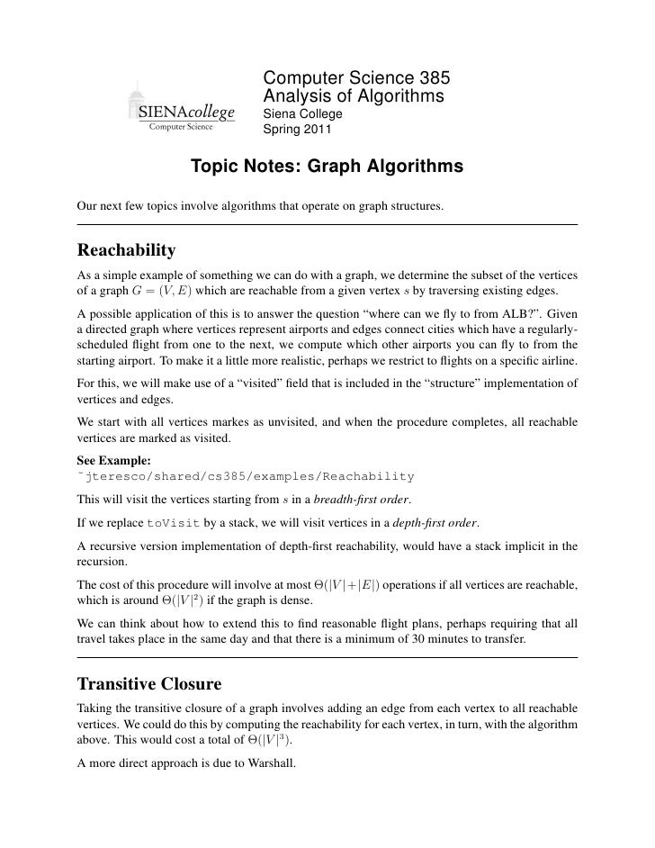 Computer Science 385                                       Analysis of Algorithms                                       Si...