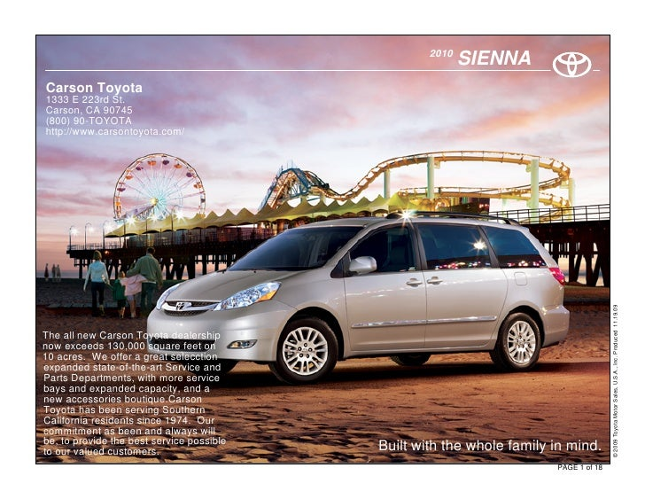2010 Toyota Sienna - Carson Toyota  Los Angeles, CA