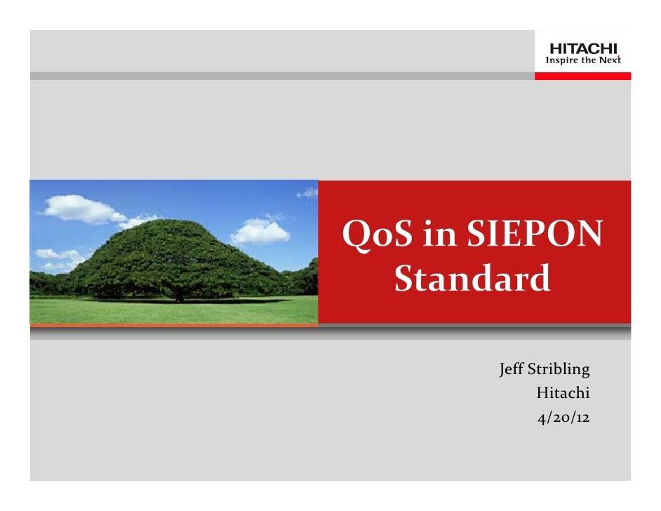 QoS in SIEPON Standard
