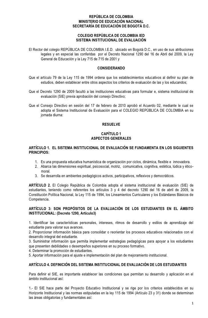 REPÚBLICA DE COLOMBIA                                 MINISTERIO DE EDUCACIÓN NACIONAL                              SECRET...