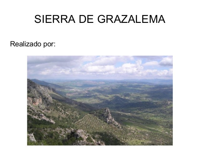 SIERRA DE GRAZALEMA Realizado por: