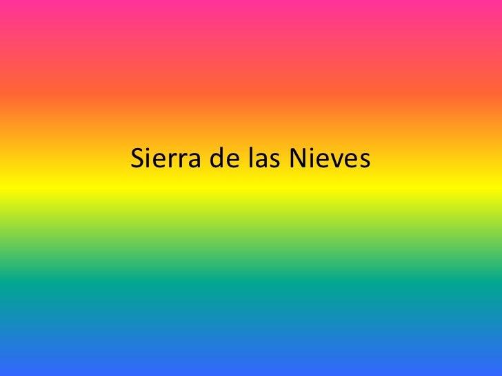 Sierra de las Nieves<br />