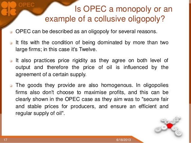 opec cartel case The aim of this paper is to determine if opec acts as a cartel by  5 us and  chinese cases are not studied because these countries are oil.