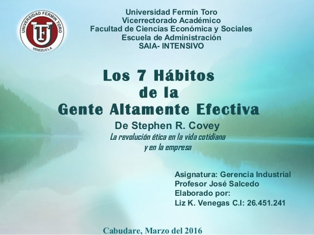 Universidad Fermín Toro Vicerrectorado Académico Facultad de Ciencias Económica y Sociales Escuela de Administración SAIA-...