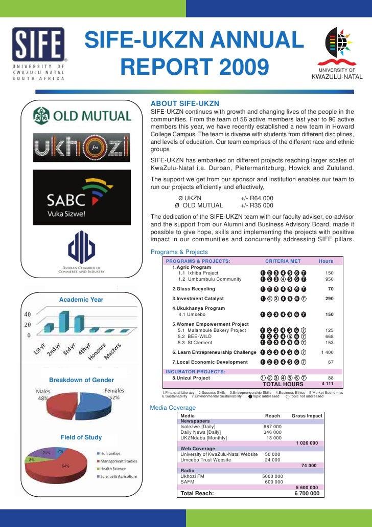 Sife Ukzn Annual Report