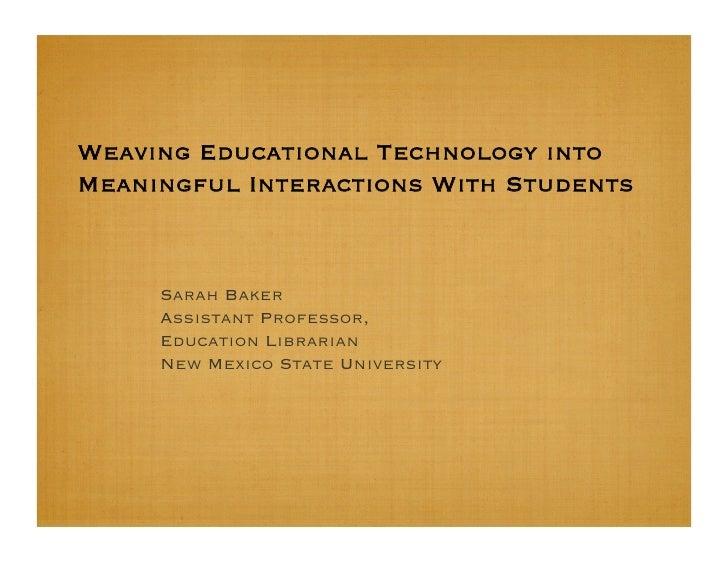 Educational Technology Tools
