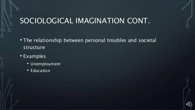 What would be an example of using social imagination in an social issue?