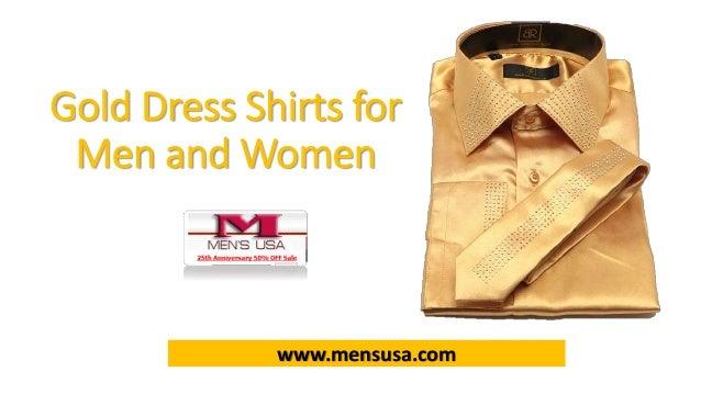 2 Gold Dress Shirts