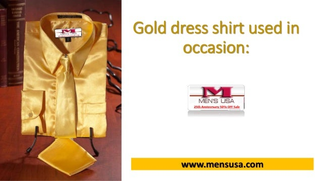 Gold Dress Shirt Used in