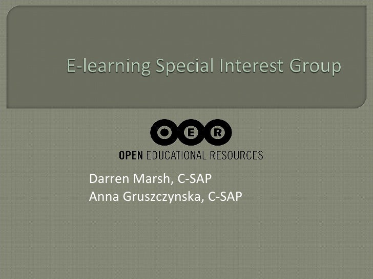 C-SAP conference e-learning special interest group