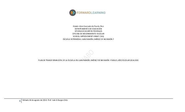 1 Editado 16 de agosto de 2014. Prof. Iván A Burgos Ortiz Estado Libre Asociado de Puerto Rico DEPARTAMENTO DE EDUCACIÓN O...