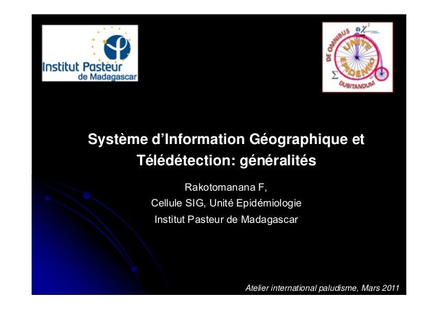 Système d'Information Géographique et Télédétection: généralités