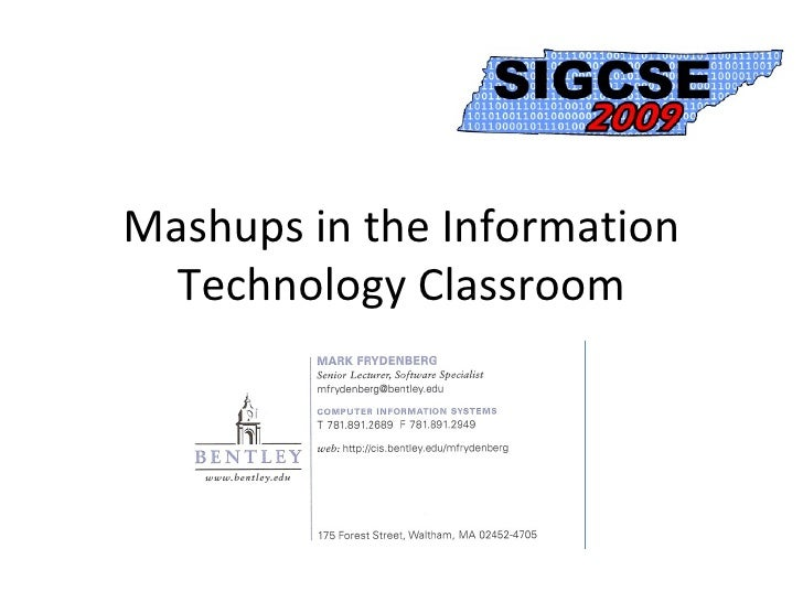 Mashups in the Information Technology Classroom