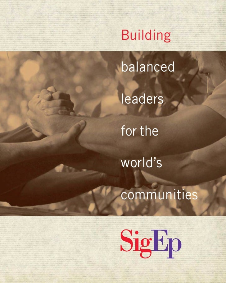 Building  balanced  leaders  for the  world's  communities