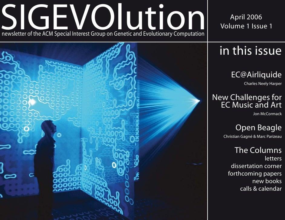 SIGEVOlution                                                                                April 2006                    ...
