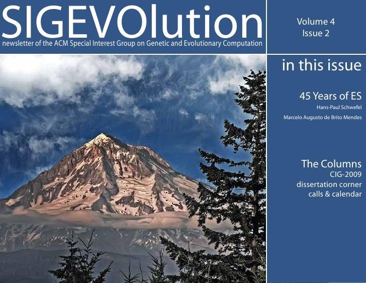 SIGEVOlution Volume 4 Issue 2