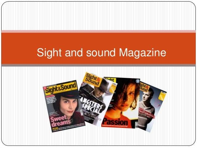 Sight and sound magazine