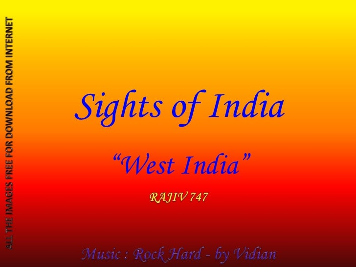 "Sights of India  ""West India"""