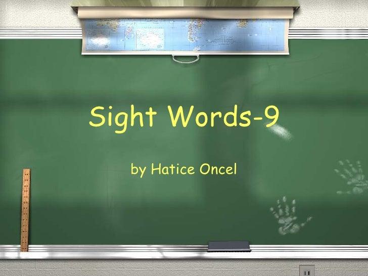 Sight words 9
