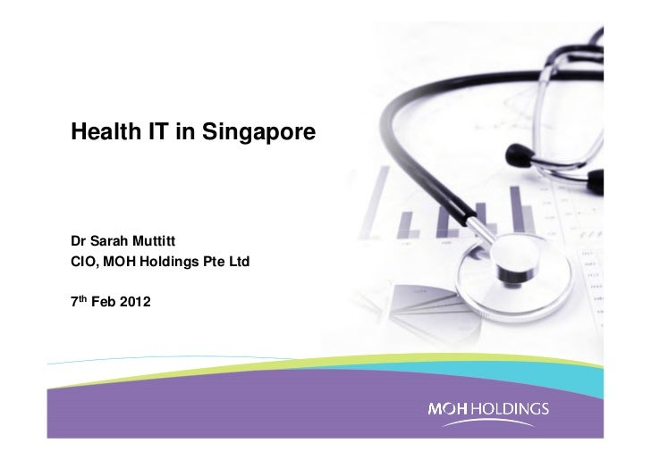 Health IT in SingaporeDr Sarah MuttittCIO, MOH Holdings Pte Ltd7th Feb 2012