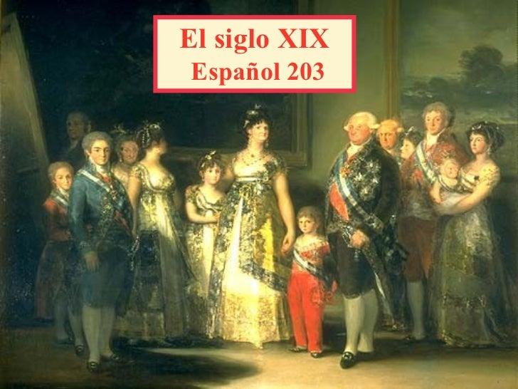 El siglo XIX   Español 203