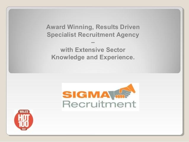 Sigma Recruitment Agency-  company presentation