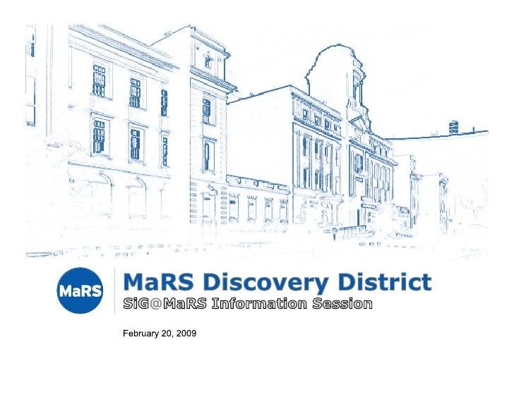 SiG@ MaRS Info Session