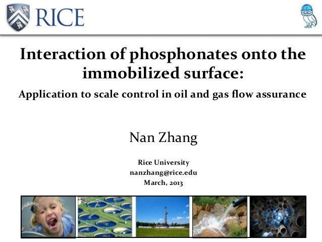 Interaction of phosphonates onto the        immobilized surface:Application to scale control in oil and gas flow assurance...