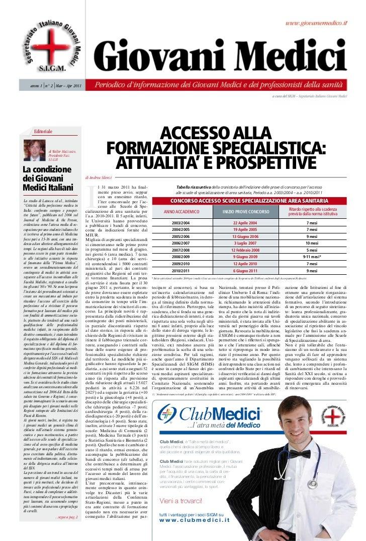 rivista giovani medici n.2 anno 2011