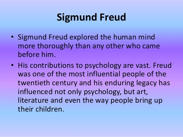 sigmund freud essay introduction Introduction to sigmund freud – purdue university web page which provides a general look at freud freud museum – web site that is dedicated to the life and work of sigmund freud sigmund freud and psychoanalysis links – educational page that helps people learn more about freud by providing information.