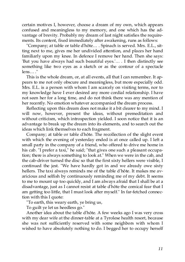 freuds dream theory essay View this research paper on sigmund freud's interpretation of dreams a further critique that can be brought to freud's theory regarding the interpretation of research paper sigmund freud s interpretation of dreams and 90,000+ more term papers written by professionals and your peers.