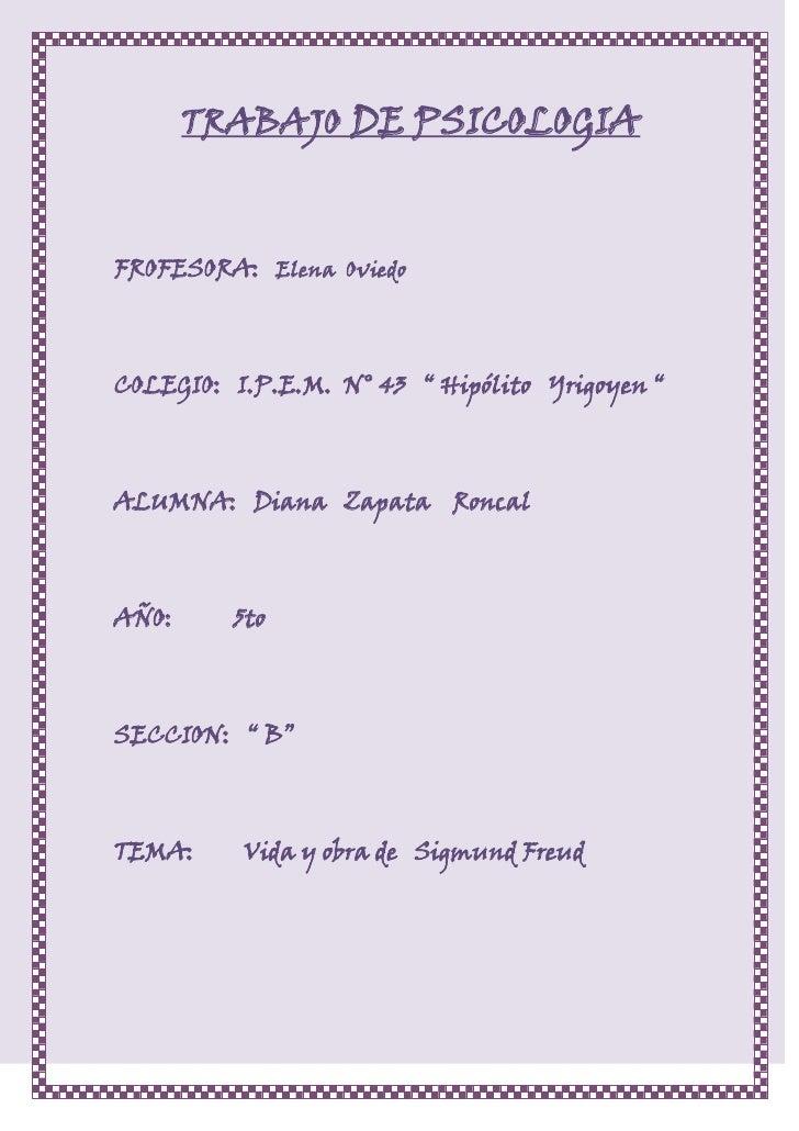 Sigmund freud original. Diana Zapata Broncal