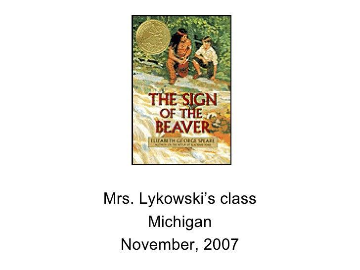 Mrs. Lykowski's class Michigan November, 2007