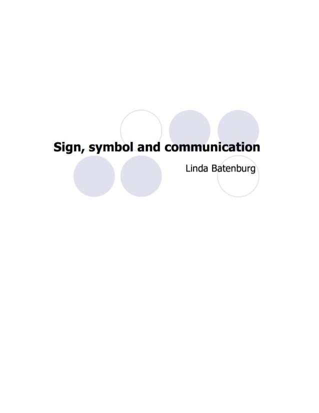 Sign symbol and-communication