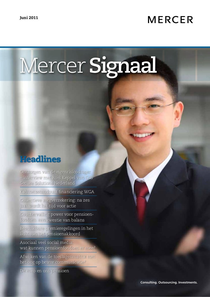 Mercer Signaal - juni 2011