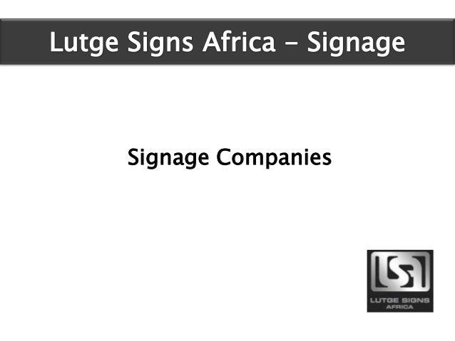 Signage Companies