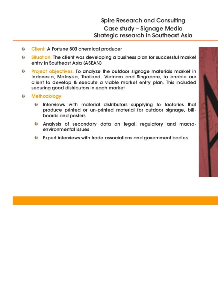 Signage Media - Strategic Research in Southeast Asia