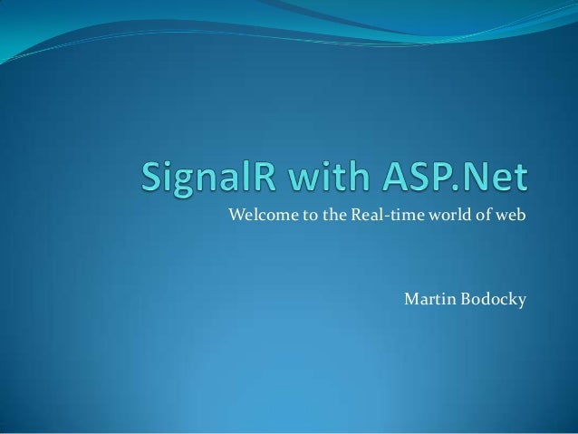 SignalR with asp.net