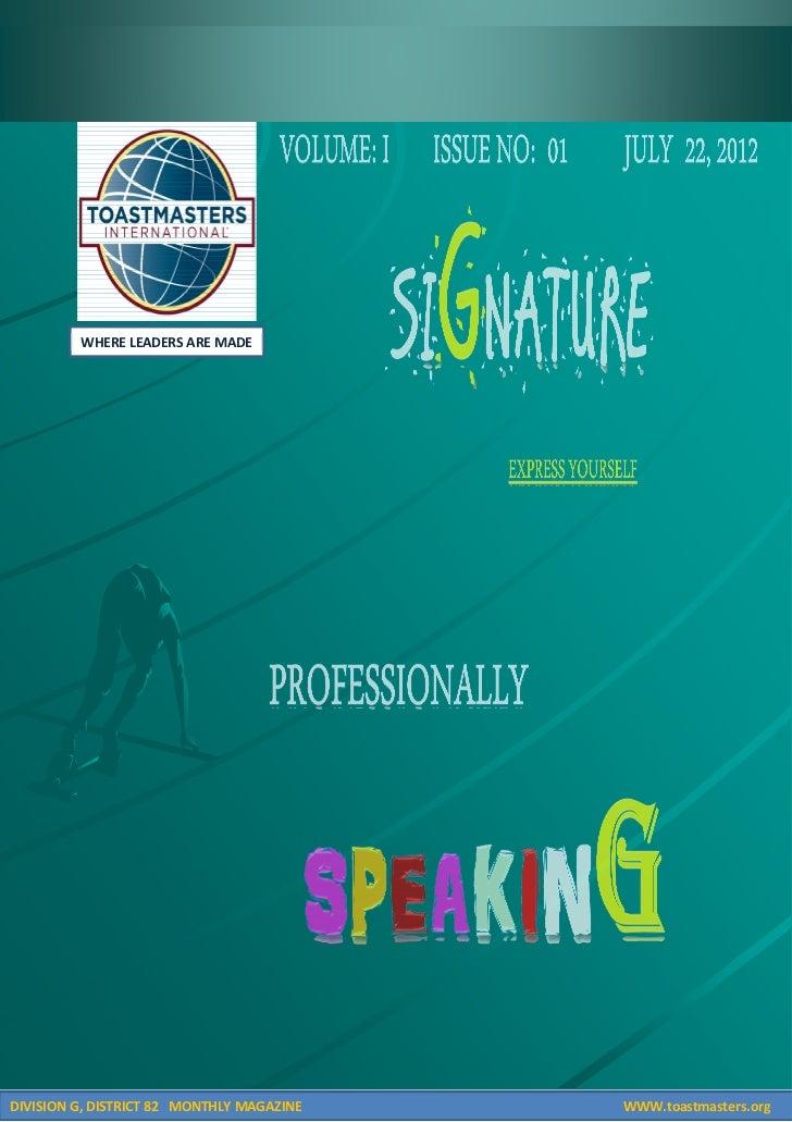 Signature  magazine.22.08.2012