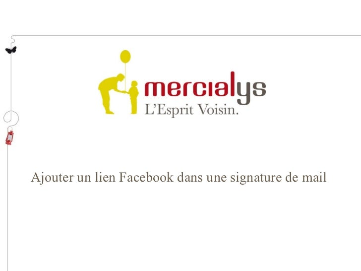 Ajouter un lien Facebook dans une signature de mail