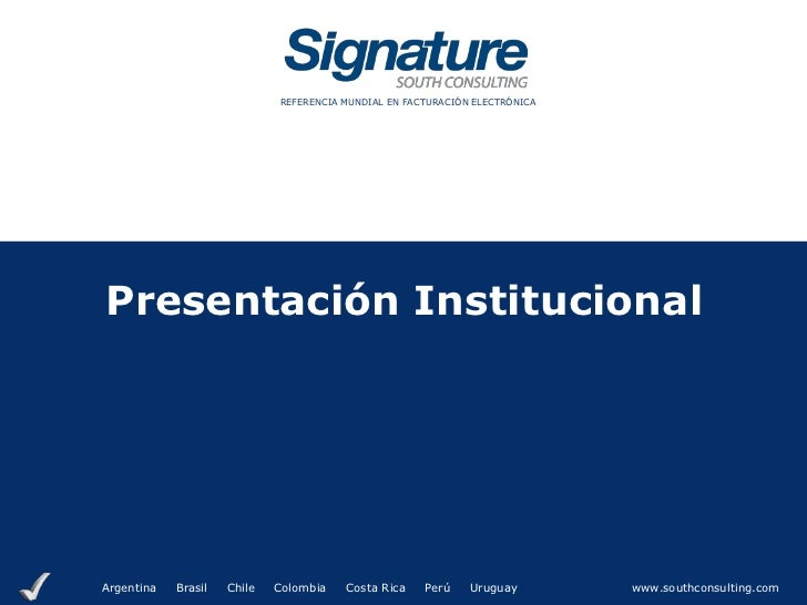 Signature Institucional Set 2012