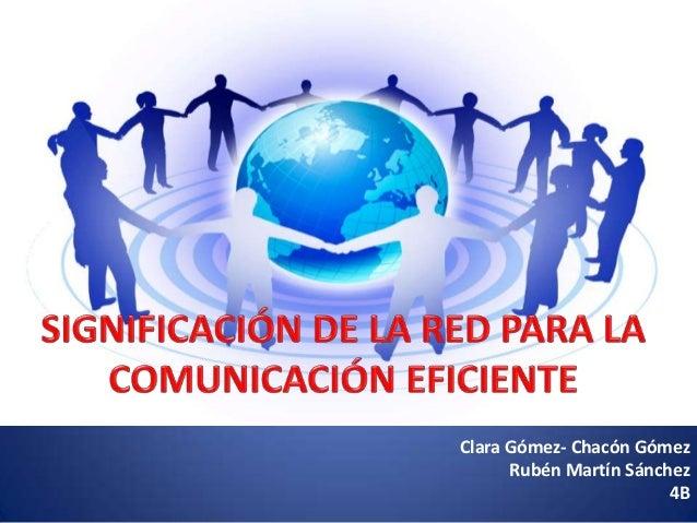 Significación de la red para la comunicación eficiente