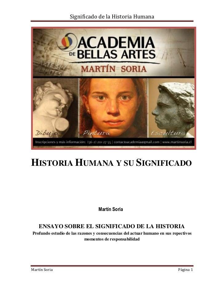 Significado de la historia humana